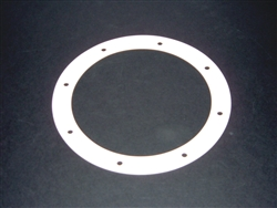 White Nitrile Gasket with Bolt Holes