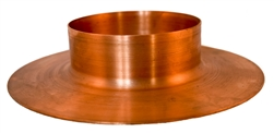 "Mounting Flange, 4"" Tube Column, Copper"